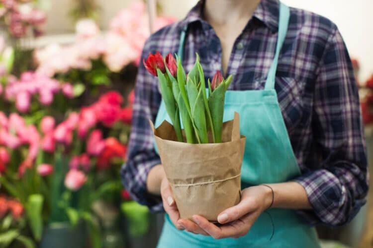 販売職の一つ、お花屋さん